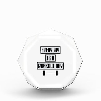 Everyday Workout Day Zge5d Acrylic Award