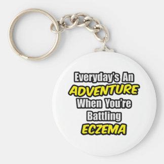 Everyday's An Adventure...Eczema Basic Round Button Keychain