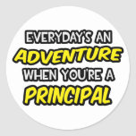 Everyday's An Adventure ... Principal Round Stickers