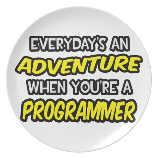 Everyday's An Adventure ... Programmer Party Plates