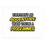 Everyday's An Adventure ... Programmer Postcard
