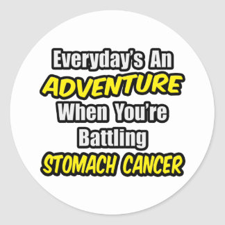 Everyday's An Adventure...Stomach Cancer Classic Round Sticker