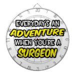 Everyday's An Adventure ... Surgeon Dartboard With Darts