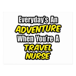 Everyday's An Adventure ... Travel Nurse Postcard