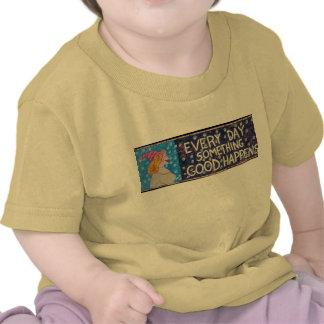 EveryDaySomethingGoodHappensWeb-blackbackground Tshirts