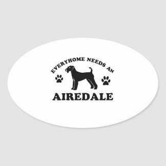 Everyhome needs an Airedale Oval Sticker