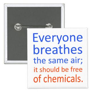 Everyone Breathes the Same Air; Pinback Button