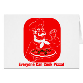 Everyone Can Cook Pizza Card