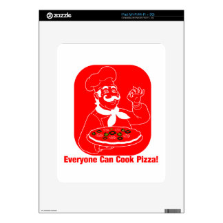 Everyone Can Cook Pizza iPad Skins