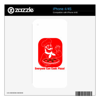 Everyone Can Cook Pizza iPhone 4S Skins
