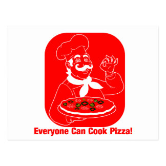Everyone Can Cook Pizza Postcard