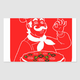 Everyone Can Cook Pizza Rectangular Sticker