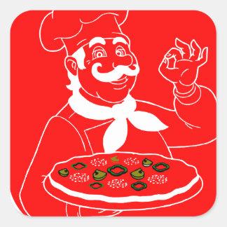 Everyone Can Cook Pizza Square Sticker
