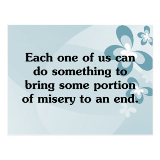 Everyone can end misery post card