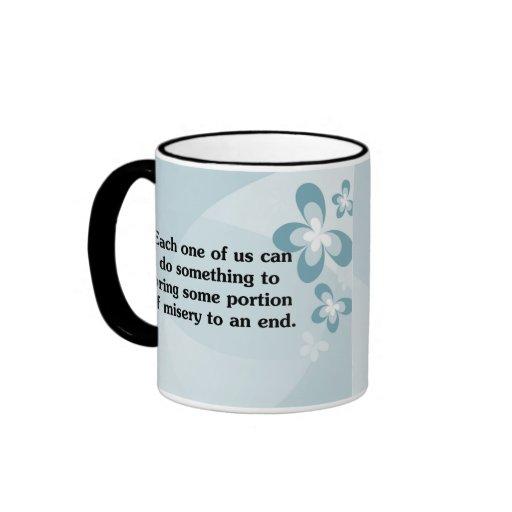Everyone can end misery ringer coffee mug