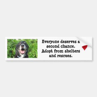 Everyone deserves a second chance... bumper sticker