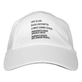 Everyone deserves human rights and climate change  headsweats hat