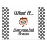 everyone had braces post card