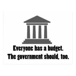 Everyone has a Budget Postcard