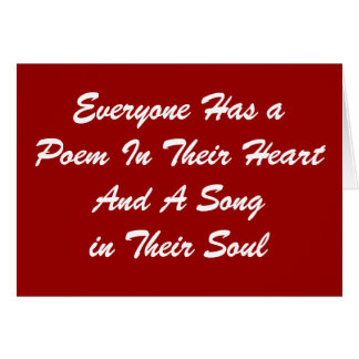 Everyone Has a Poem Card