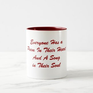 Everyone Has a Poem Mug mug