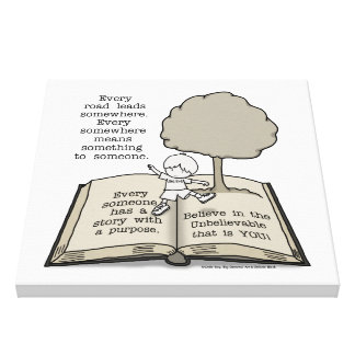 Everyone Has a Story Stretched Canvas Print