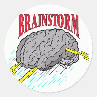 everyone has brainstorms. round sticker