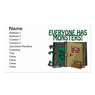 Everyone Has Monsters Business Card