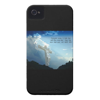 Everyone hates God until you need HIM iPhone 4 Cases