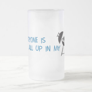 Everyone is all up in my Grill Frosted Glass Beer Mug