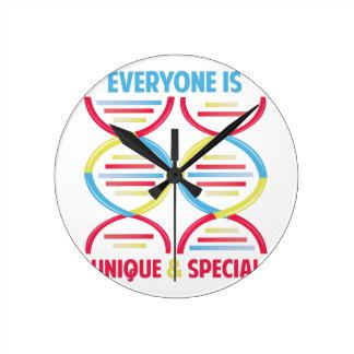 Everyone Is Unique Round Clock