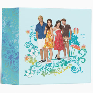 Everyone Just Sings & Surfs 3 Ring Binder
