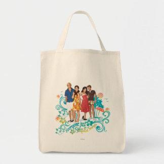 Everyone Just Sings & Surfs Grocery Tote Bag