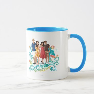 Beach Themed Everyone Just Sings & Surfs Mug