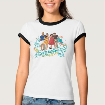 Beach Themed Everyone Just Sings & Surfs T-Shirt