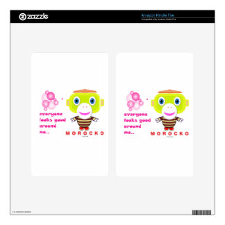 Everyone looks good around me-Cute Monkey-Morocko. Decals For Kindle Fire