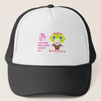 Everyone looks good around me-Cute Monkey-Morocko. Trucker Hat