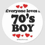 Everyone loves a 70's boy sticker