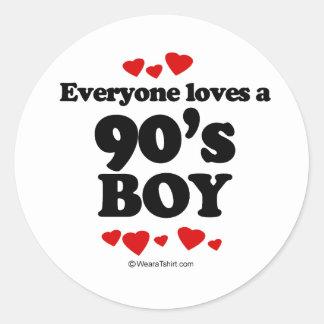 Everyone Loves a 90s Boy Sticker