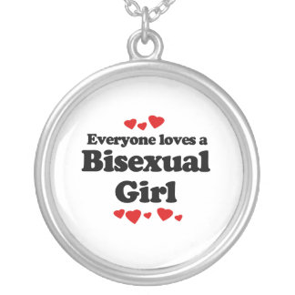 Everyone Loves a Bisexual Girl Round Pendant Necklace
