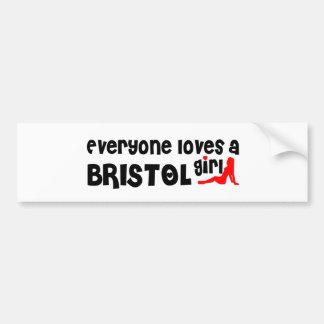 Everyone loves a Bristol girl Bumper Sticker