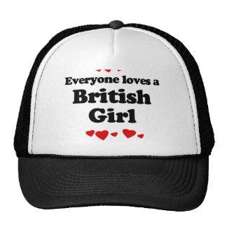 Everyone Loves a British Girl T-shirt Hat