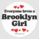 Everyone loves a Brooklyn girl Stickers