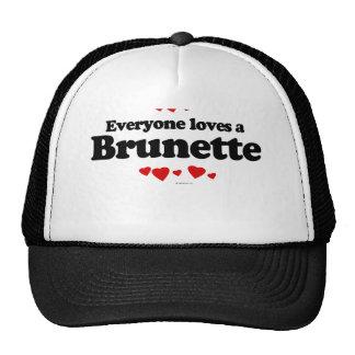 Everyone Loves a Brunette T-shirt Mesh Hats