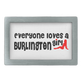 Everyone loves a Burlington girl Rectangular Belt Buckles