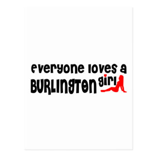 Everyone loves a Burlington girl Postcard