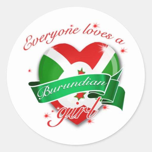 Everyone loves a Burundian Girl Stickers
