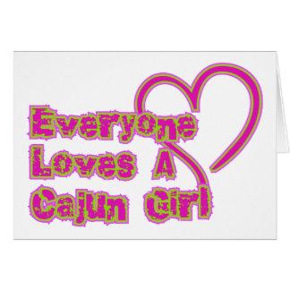 Everyone Loves A Cajun Girl Cards