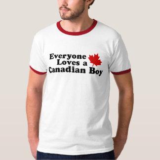 Everyone Loves a Canadian Boy Tee Shirt