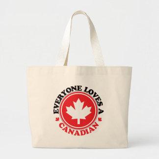 Everyone Loves a Canadian! Jumbo Tote Bag